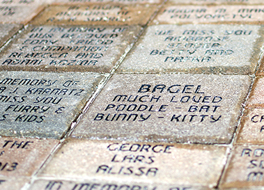 Path of Love brick paver