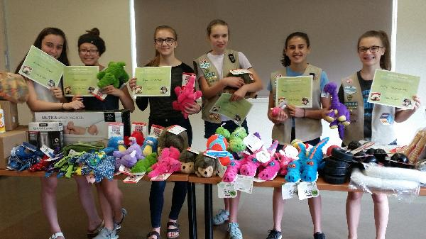 Girl scouts who earned their silver badge at HSHV