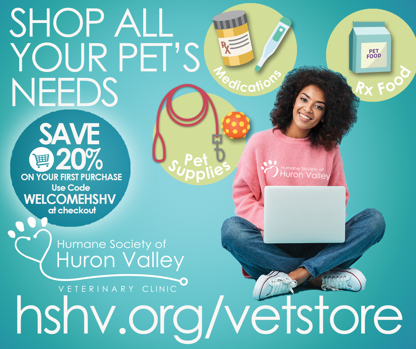 Get all your pets needs at our vet store